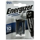 Energizer Ultimate Lithium Batteri 6AM-6 9V-Block Blister